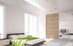 EOS Rooflights in well lit bedroom