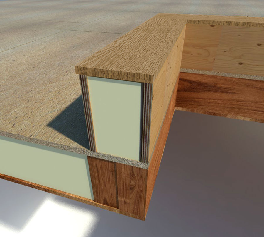 Recomended timber upstand for rooflights