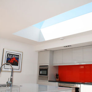 Large skylight in Kitchen