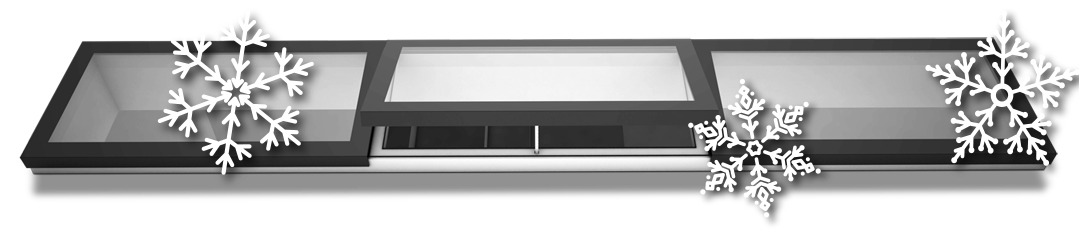 Image showing a 3 panel modular rooflight