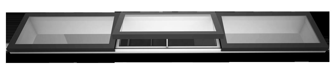 Image showing a 3 panel modular rooflight