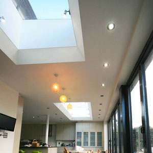 2 Long skylights in extension