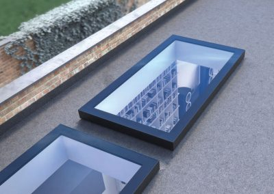 flat roof rooflights from outside