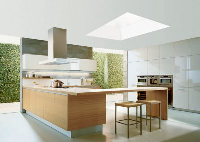 bright kitchen, triple glazed rooflight on flat roof