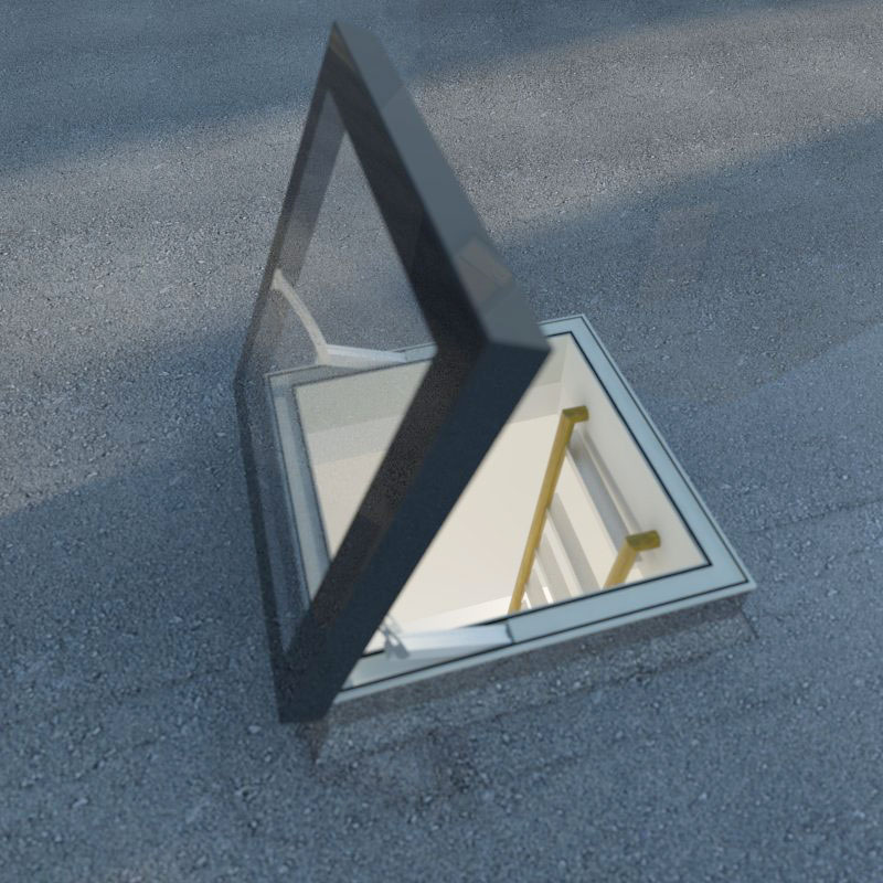 Our Access rooflight in the open position