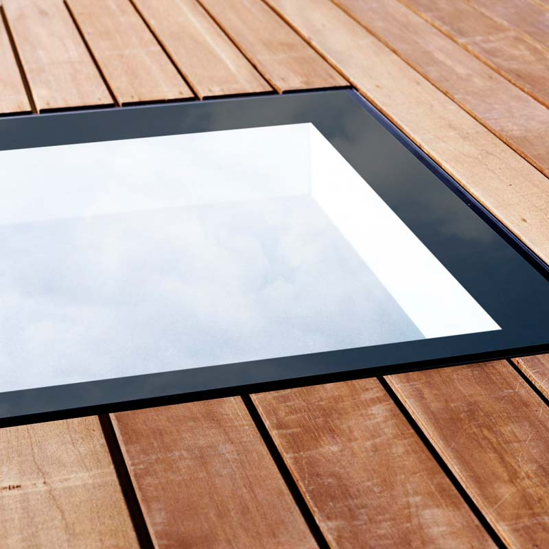 Walk On skylight with decking