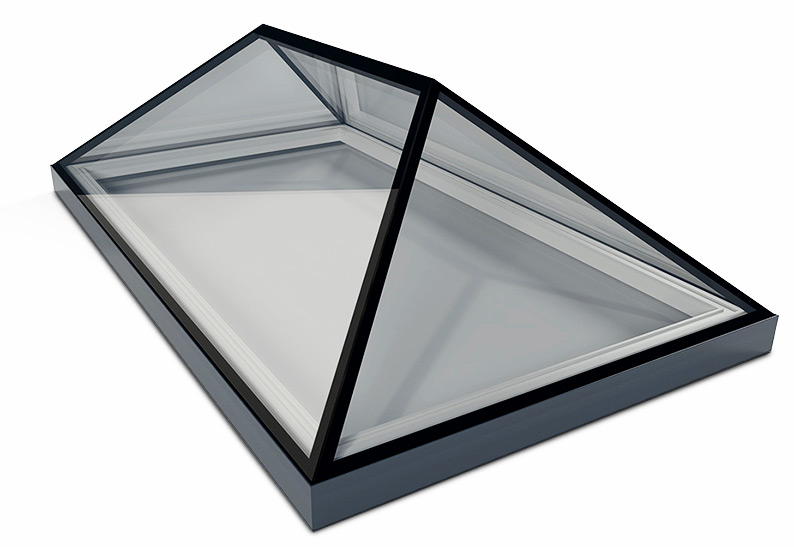 1000mm x 2000mm frameless glass roof lanterns