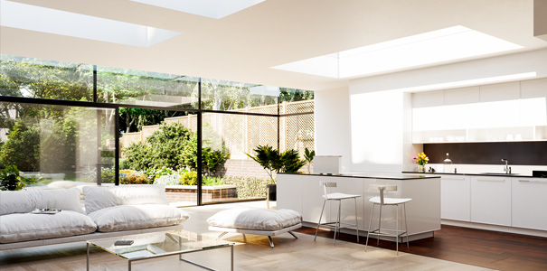 3 Eco rooflights in pitched roof