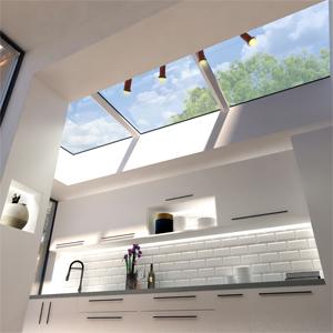 3 skylights in a row