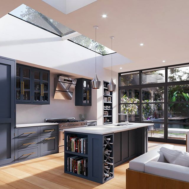 Kitchen Extension - A project in Dulwich, South London featuring our modular rooflight and single fixed stock rooflight.
