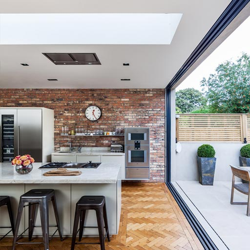 Large rooflight in kitchen