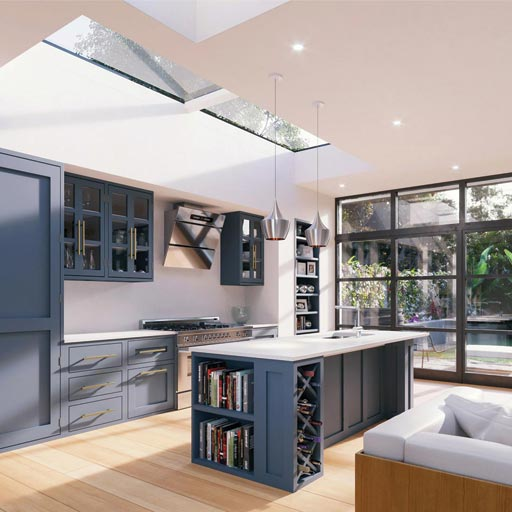 rooflight in kitchen